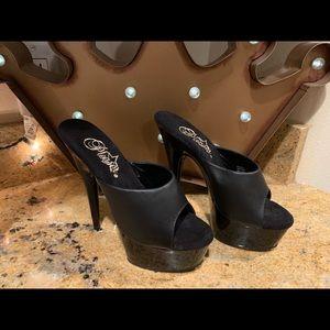 New Pleaser Black Heels Size 5